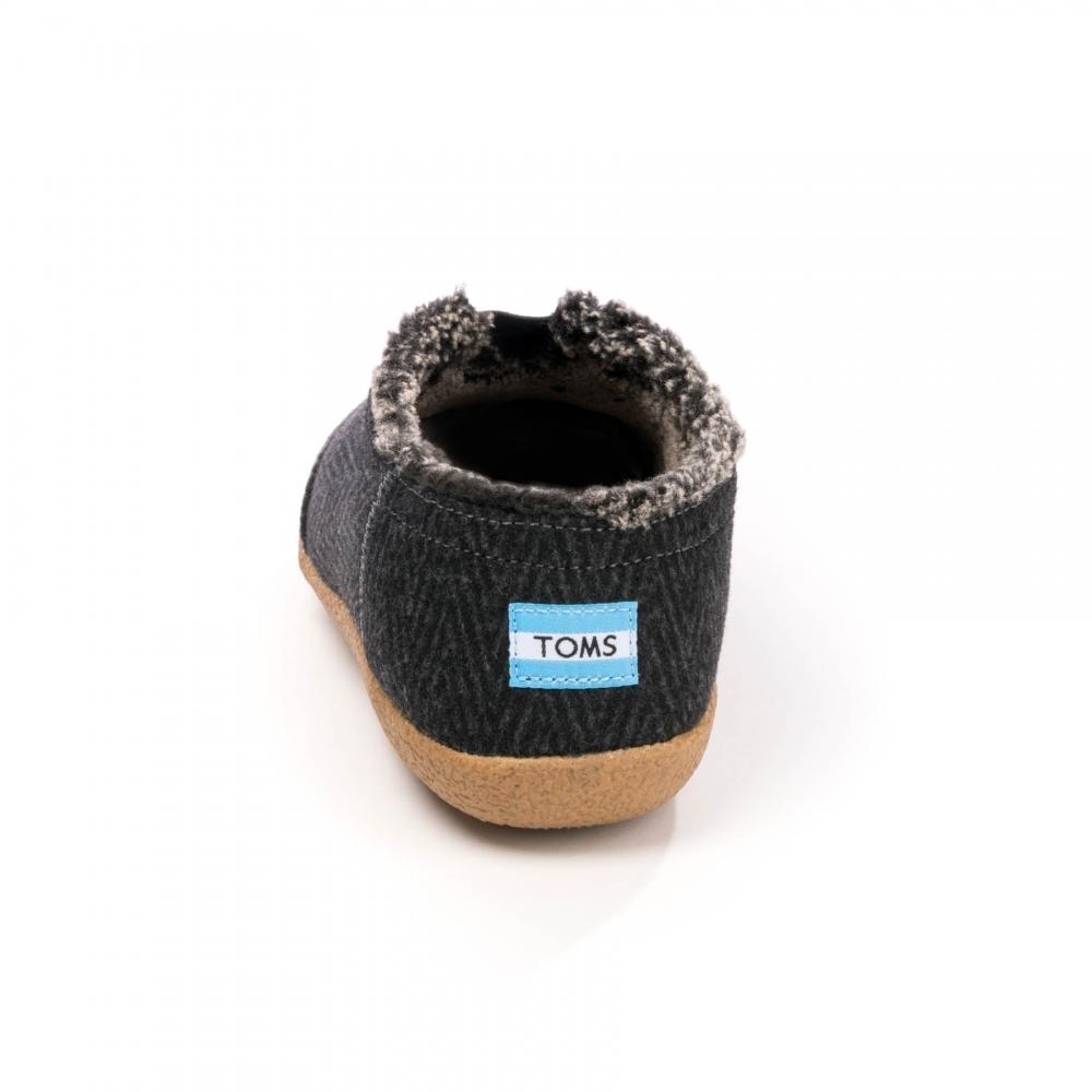 248b44db4ec TOMS House Slipper Black Chevron Wool Mens Boot - Footwear from CHO ...