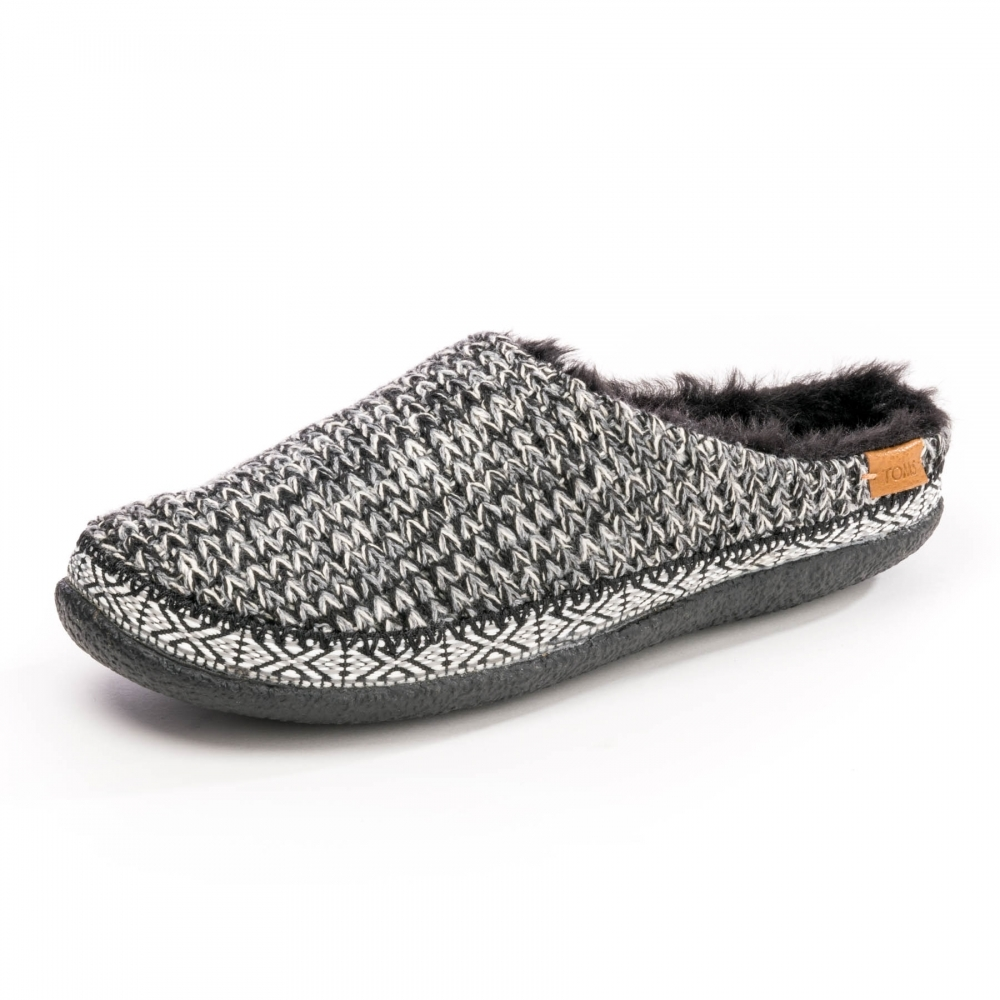 783ab2a89a3 TOMS Ivy Black White Sweater Womens Slipper - Footwear from CHO ...