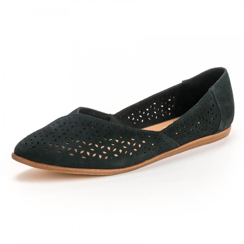 101b5c739c6 TOMS Jutti Black Suede  Mosaicc Tile Womens Flat - Womens from CHO ...