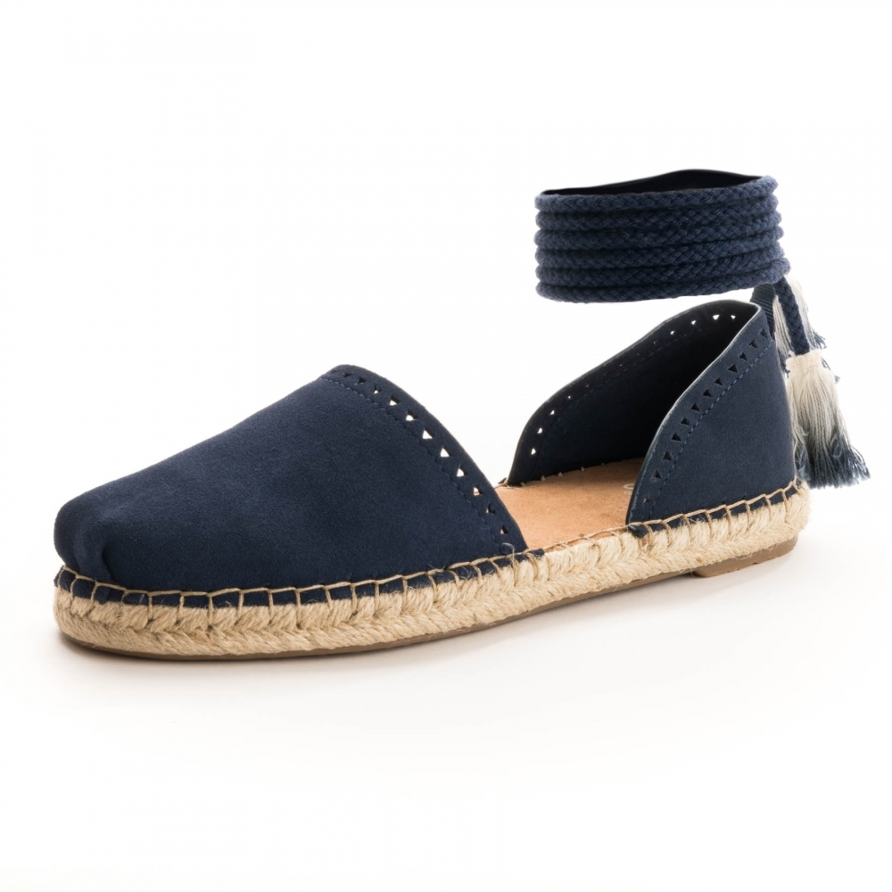 get online discount shop sports shoes TOMS TOMS Katalina Navy Suede Womens Espadrille