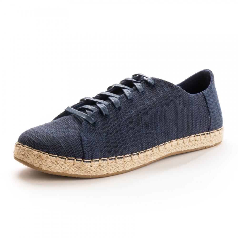aff0efaadec TOMS Lena Navy Slubby Cotton Womens Sneaker - Womens from CHO ...