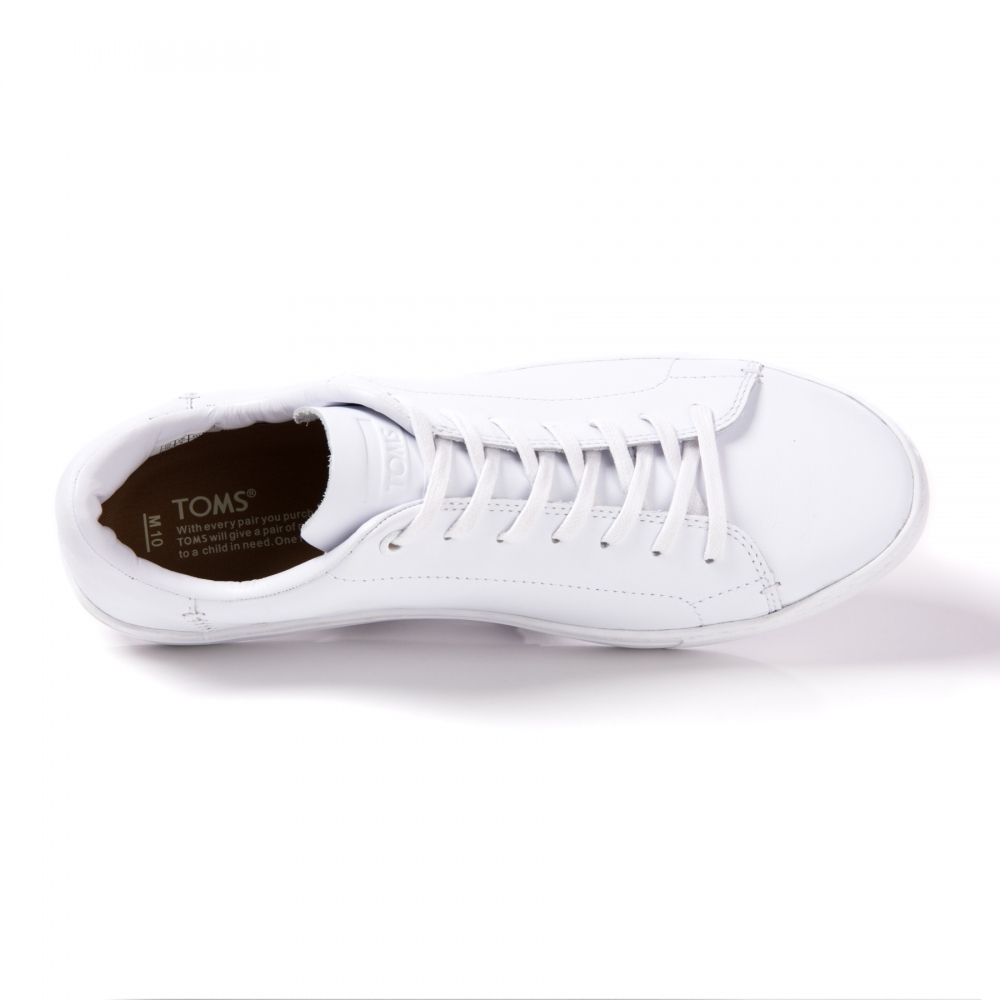 bd239469f1c TOMS Lenox White Leather Mens Sneaker - Footwear from CHO Fashion ...