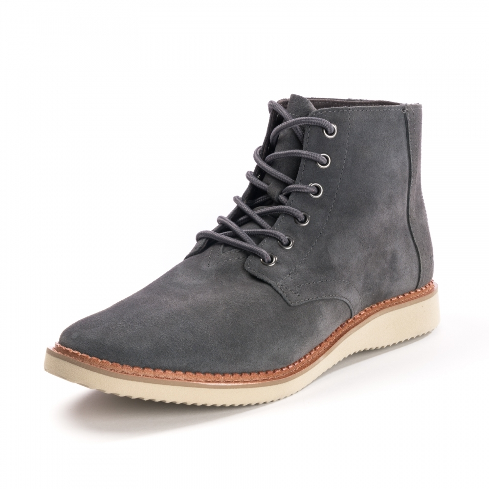 Toms Porter Forged Iron Grey Suede Mens Boots Footwear
