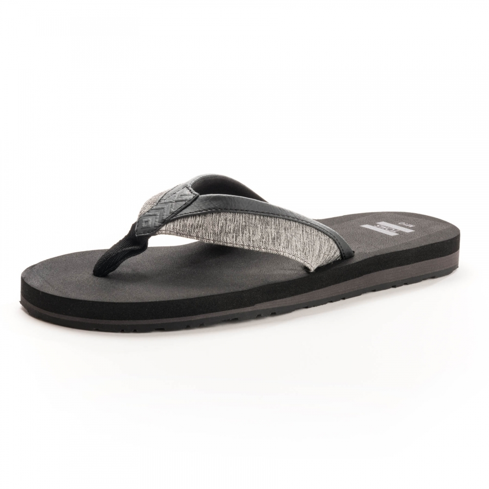 ad264d8bc6f7 TOMS Santiago Forged Iron Grey Space-Dye  Black Mens Flip-Flop ...