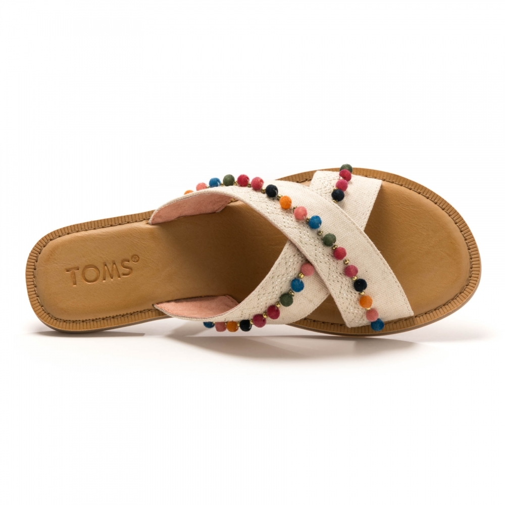 c086b999187 TOMS Viv Natural Hemp  Pom Poms Womens Sandal - Womens from CHO ...