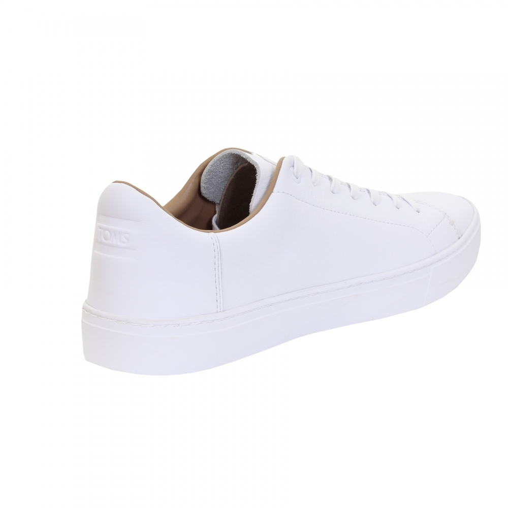 e12caf1e6be TOMS White Leather Mens Sneaker - Mens from CHO Fashion and Lifestyle UK