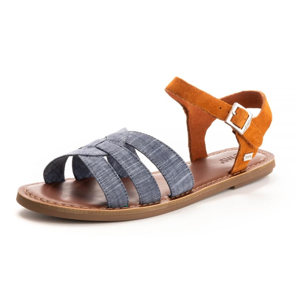 0fc999bf8c9 TOMS Zoe Chambray Brown Suede Womens Sandal - Womens from CHO ...