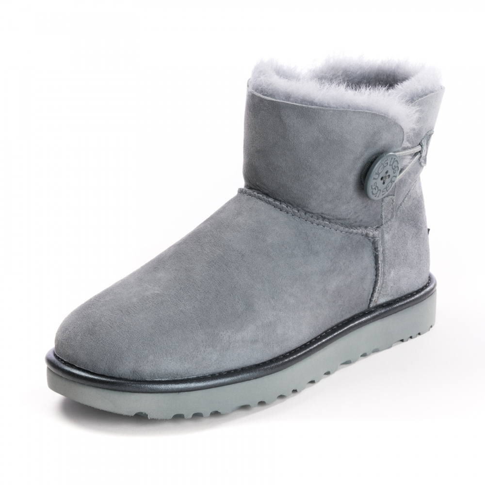 UGG Mini Bailey Bow Button Metallic Womens Boots