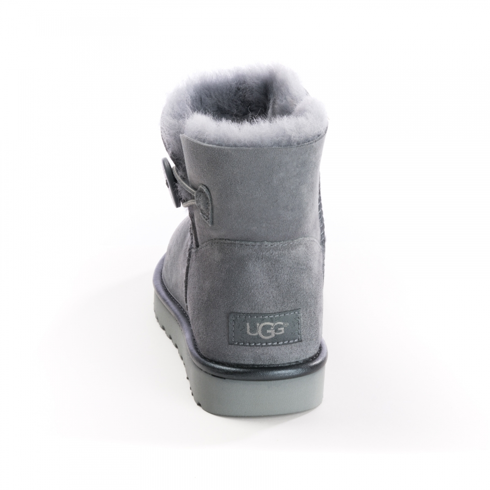 03ee55f739c UGG UGG Mini Bailey Bow Button Metallic Womens Boots