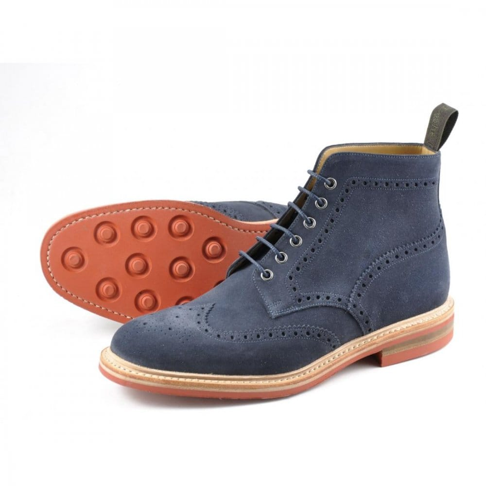 loake winchester suede mens derby brogue boot mens from
